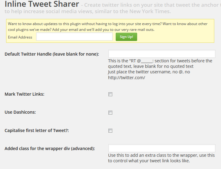 Inline Tweet Sharer: Create Twitter Links in WordPress