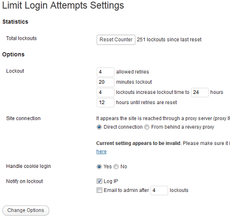 limit login