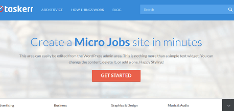 Taskerr: WordPress Theme for Micro Job Sites