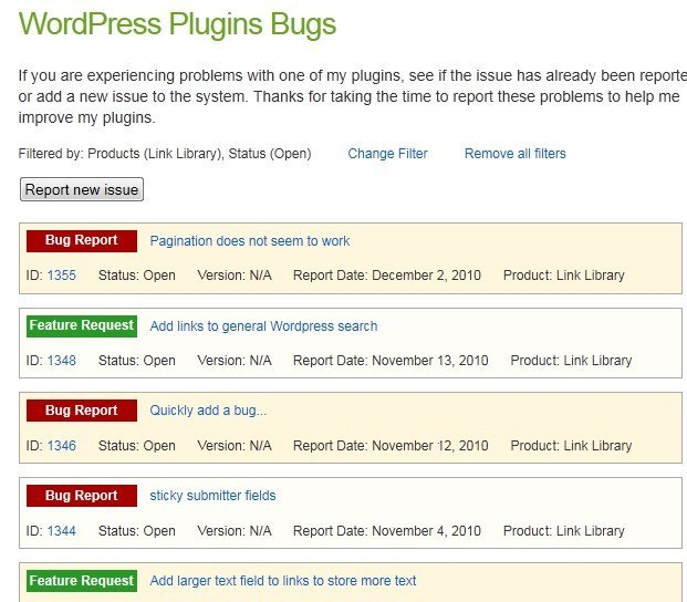 6 WordPress Plugins for Bug Tracking Websites