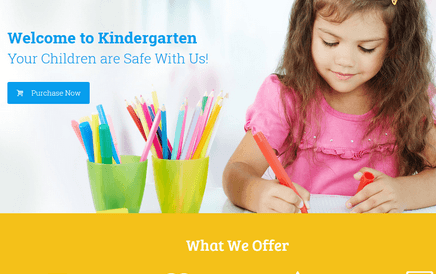 Kindergarten Theme for WordPress