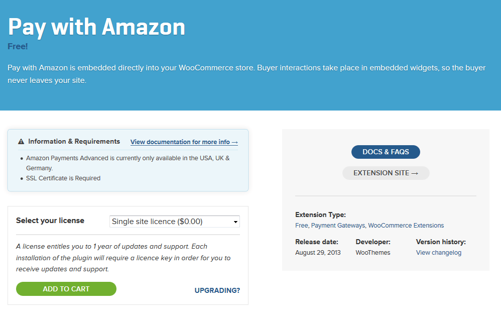 2 Amazon Payments Plugins for WooCommerce