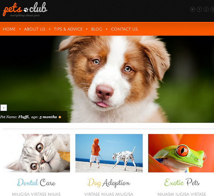 15 WordPress Themes for Pet Sites