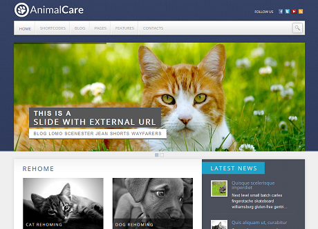 2 WordPress Themes with Petfinder Integration