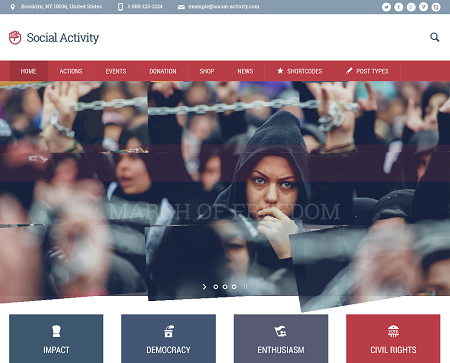 Social Activity: WordPress Theme for Activism