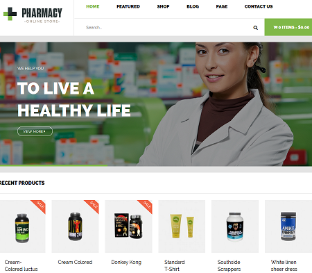 3 WooCommerce Themes for Pharmacies