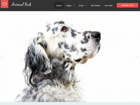 Animal Hub WordPress Theme for Pet Shelters