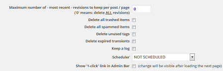 Optimize Database after Deleting Revisions Plugin