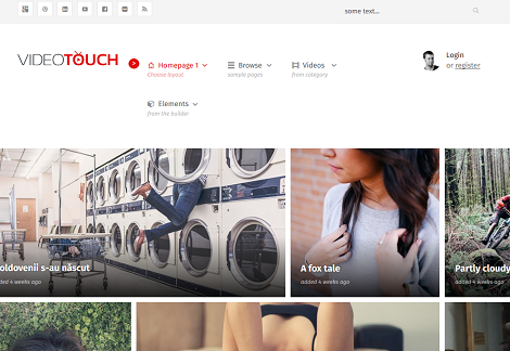 VideoTouch Video WordPress Theme