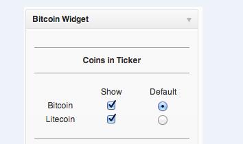 bitcoin widtet