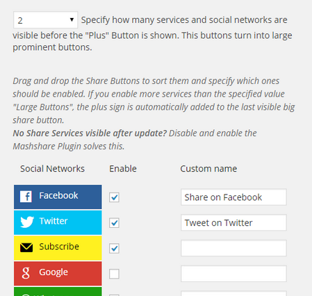 2 Mashable-Style Social Media Buttons for WordPress