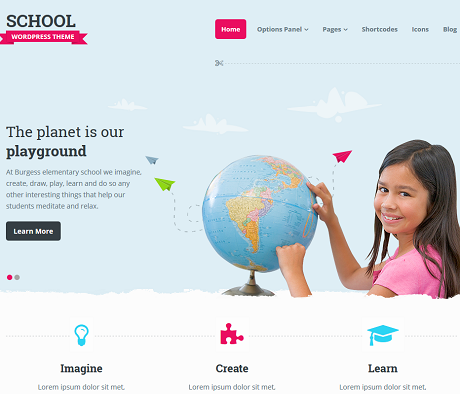 School: WordPress Theme for Classes & Day Care Businesses
