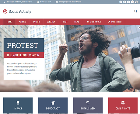 7 WordPress Themes for Activists
