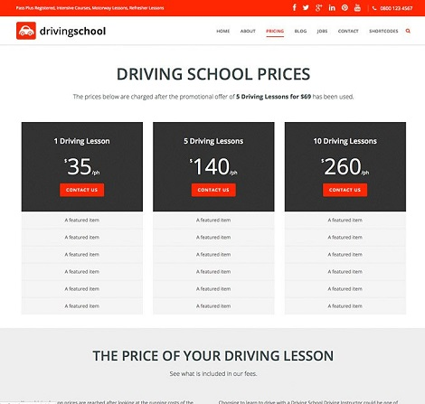 Driving School Pro WordPress Theme