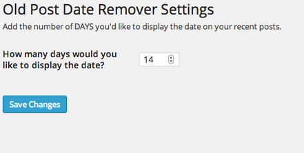 WP Old Post Date Remover for Plugin