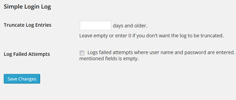 Simple Login Log: Keep a Log of User Logins