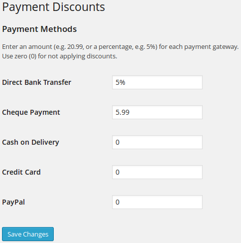 WooCommerce Discounts Per Payment Method Plugin