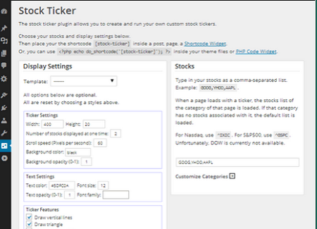 3 Stock Ticker Plugins for WordPress
