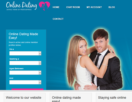 Online dating tema