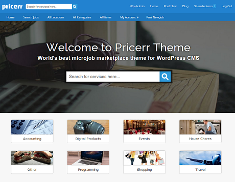 7 WordPress Themes for Micro Job Sites - WP Solver