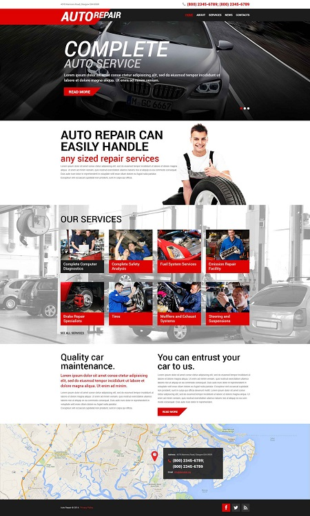 6 WordPress Themes for Car Repair Shops