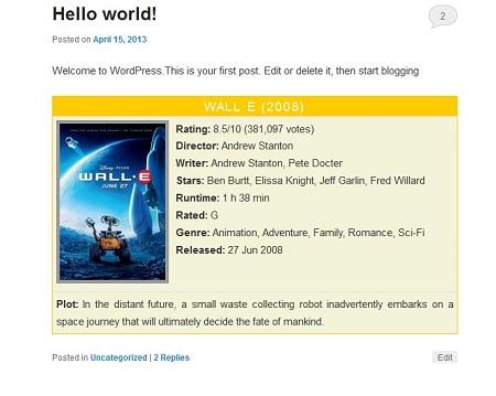 4 Useful IMDb Plugins for WordPress