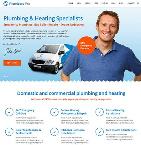 Plumbers Pro: WordPress Theme for Plumbing Companies