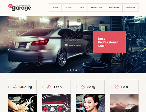 Garage: Auto Repair Shop Theme