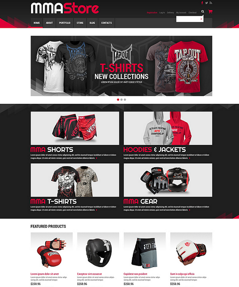 Sport Store WooCommerce Theme for MMA Shops