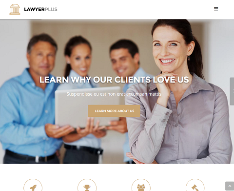 LawyerPlus: WordPress Theme for Legal Sites