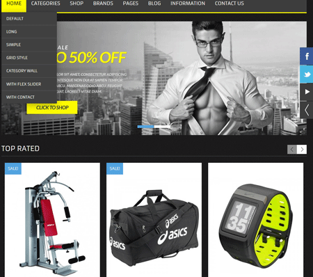 5 MMA Gear Store WordPress Themes