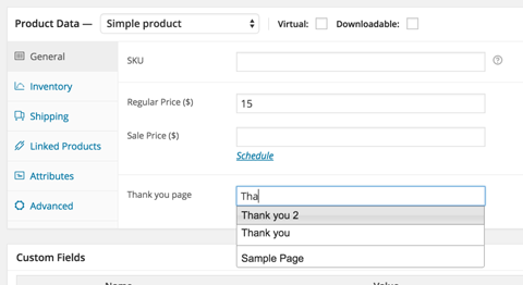 WooCommerce Plugin: Custom Thank You Pages Per Product