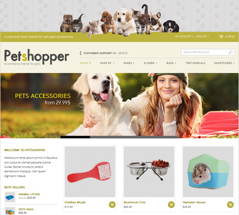 Petshopper: E-Commerce Theme for Pet Products