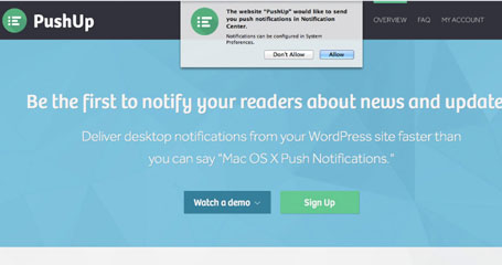 PushUp Notifications: Send Push Notifications to Your Readers