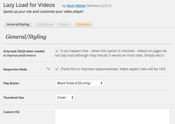 Lazy Load YouTube & Vimeo Videos: 4 Plugins