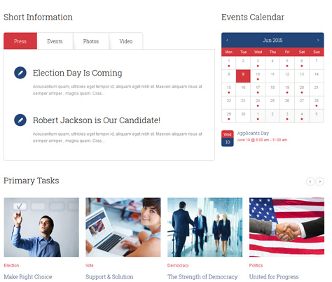 Politics: WordPress Theme for a Political Campaign