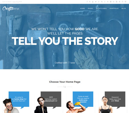 Craftsmen WordPress Theme for Shops, Gyms, Vets