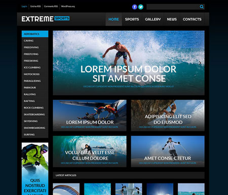 13 Extreme Sports WordPress Themes
