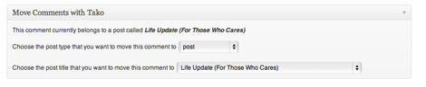 Move WordPress Comments with Tako Movable Comments