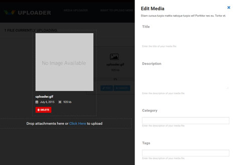 Uploader: Media Sharing WordPress Theme