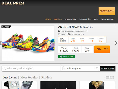 DealPress: Child Theme for Deal Sites