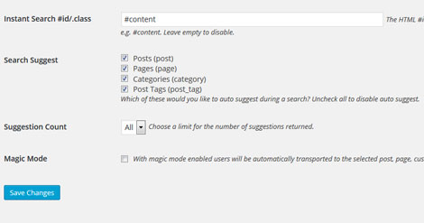 Instant Search & Suggest WordPress Plugin