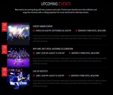 WeMusic: WordPress Theme for Music Events