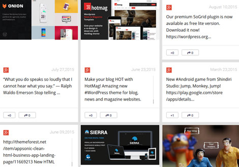 SoGrid for WordPress: Social Network Posts Grid Plugin