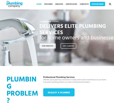 Plumbing: WordPress Theme for Construction Businesses