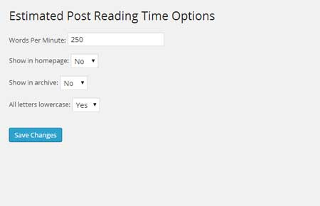 Estimated Post Reading Time Plugin for WordPress