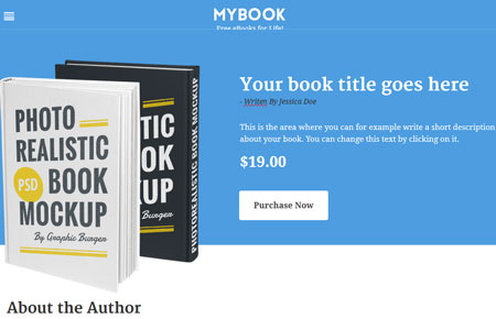 MyBook: Drag & Drop WordPress Theme for Writers