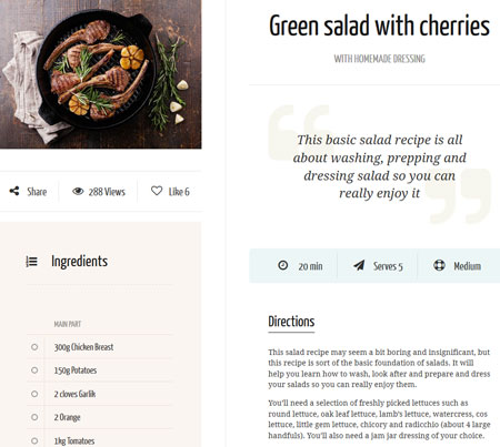 Neptune : WordPress Theme for Recipe Blogs