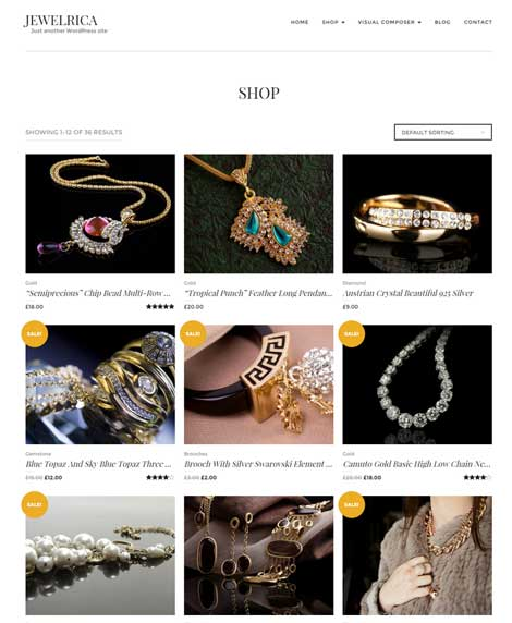 Jewelrica: WooCommerce Theme for Jewelry Shops
