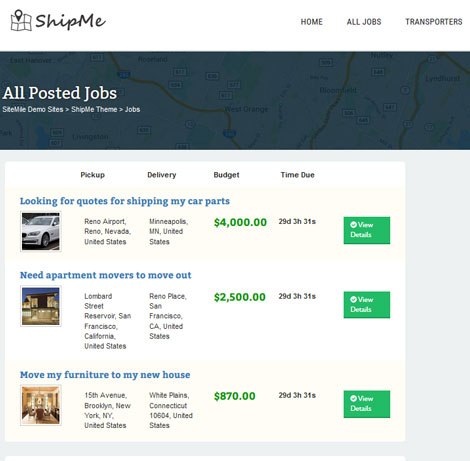 ShipMe: Shipping Carriers Marketplace Theme - WP Solver
